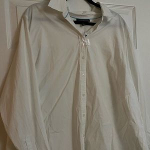 NWOT White Button Up Blouse